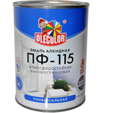Эмаль акр. ПФ-115 OLECOLOR шоколад 0,8 кг