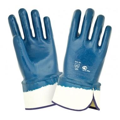 Перчатки нитриловые (полный облив, крага)