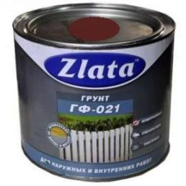 Грунт ГФ-21 ZLATA красно-коричневый 0,9 кг