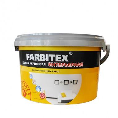 Краска акриловая интерьерная FARBITEX 3кг