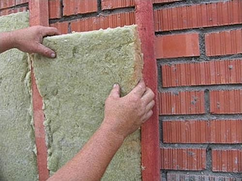 Утепление дома минеральной ватой «сухим» способом