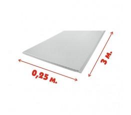 Панель ПВХ 0.25х3 м белая матовая