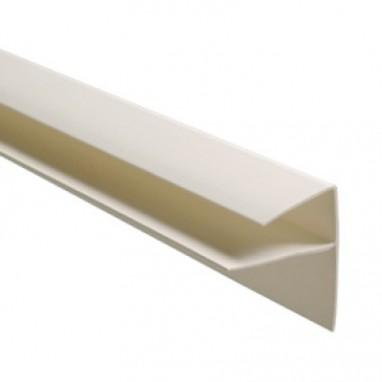 F-профиль (оконный) 10 мм белый ПВХ 3 м
