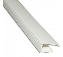 L-профиль (стартовый) 10 мм белый ПВХ 3м