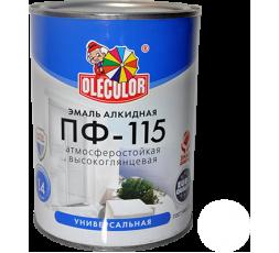 Эмаль акр. ПФ-115 OLECOLOR серая 0,8 кг