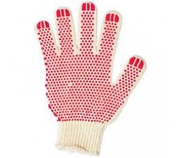 Перчатки 5н красные ПВХ