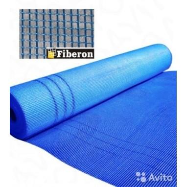 Сетка строительная 1000мм х 50м Фасадная синяя 5х5 Fiberon