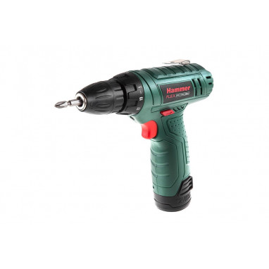 Дрель аккумуляторная Hammer Flex 12.0вт Lilon 2* 1.3Ач10мм