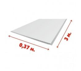 Панель ПВХ 0.37х3 м белая матовая