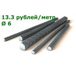 Арматура металлическая 6 А500 (6 м)