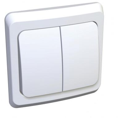 Выключатель 2-х клавишный скрытый ЭТЮД