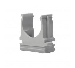 Держатель для труб 16 мм ПВХ серый (1 шт)