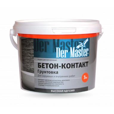 """Грунтовка """"Бетон-Контакт"""" Der Master 3 кг"""