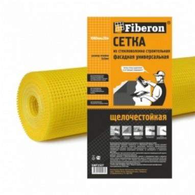Сетка строительная 1000мм х 50м  Фасадная универсальная желтая 5х5 Fiberon